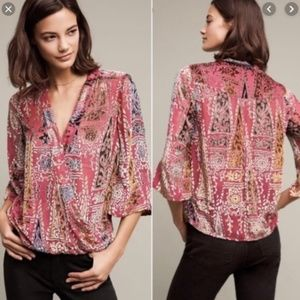 Floreat by Anthropologie Japonica Wrap Blouse